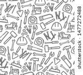 work tools seamless pattern... | Shutterstock .eps vector #1477272488