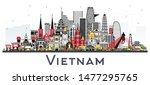 vietnam city skyline with gray...   Shutterstock . vector #1477295765