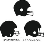 football helmet icon on white...