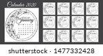 calendar 2020  a set of... | Shutterstock .eps vector #1477332428