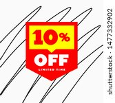 10  off sale discount price tag ... | Shutterstock .eps vector #1477332902