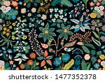 trendy bright floral pattern in ... | Shutterstock .eps vector #1477352378
