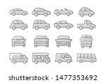 car icons set on white... | Shutterstock .eps vector #1477353692