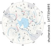 imaginary weather map... | Shutterstock . vector #1477354895