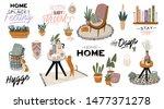 stylish scandic living room...   Shutterstock .eps vector #1477371278