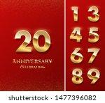 20 golden numbers and... | Shutterstock .eps vector #1477396082