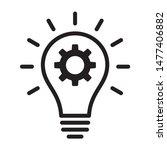 lightbulb with idea innovation...   Shutterstock .eps vector #1477406882