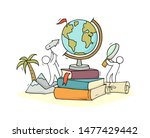 school illustration with globe  ... | Shutterstock .eps vector #1477429442
