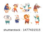 bundle of funny animals playing ...   Shutterstock .eps vector #1477431515