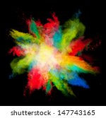 freeze motion of colored dust... | Shutterstock . vector #147743165