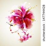 beautiful fashion women with... | Shutterstock .eps vector #147744428