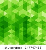 green abstract geometrical... | Shutterstock . vector #147747488