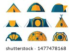collection of tent icons for... | Shutterstock .eps vector #1477478168