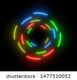 neon colorful swirling rounds....
