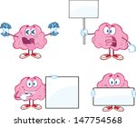 brain cartoon mascot collection ... | Shutterstock . vector #147754568