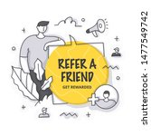 refer a friend vector... | Shutterstock .eps vector #1477549742