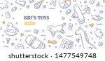 kid s toys doodle frame. top... | Shutterstock .eps vector #1477549748
