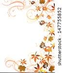 autumnal design   vector  | Shutterstock .eps vector #147755852