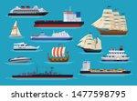 maritime ships at sea  shipping ... | Shutterstock .eps vector #1477598795