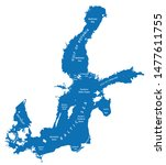 silhouette map of the baltic... | Shutterstock . vector #1477611755