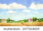 watercolor illustration of...   Shutterstock . vector #1477618655