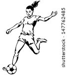 soccer football female player... | Shutterstock .eps vector #147762485