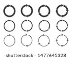Set Of Circle Arrows Rotating...
