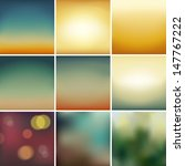 set of  soft colored abstract... | Shutterstock .eps vector #147767222