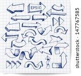 pen sketch arrow collection for ... | Shutterstock .eps vector #147767585