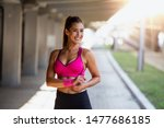 healthy sports lifestyle.... | Shutterstock . vector #1477686185
