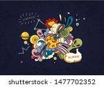 cartoon vector illustration of... | Shutterstock .eps vector #1477702352