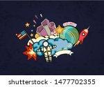 cartoon vector illustration of... | Shutterstock .eps vector #1477702355