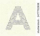 mono line style geometric font ... | Shutterstock . vector #1477702838