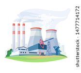 fossil fuel power station... | Shutterstock .eps vector #1477714172