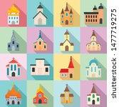 Church Icons Set. Flat Set Of...