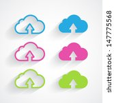 cloud icon pack with shadow.... | Shutterstock .eps vector #147775568
