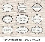 vintage labels set. | Shutterstock .eps vector #147779135