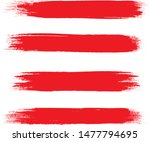 brush stroke set isolated on... | Shutterstock .eps vector #1477794695