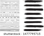 lines hand drawn paint brush... | Shutterstock .eps vector #1477795715