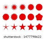 star burst. trendy red retro... | Shutterstock .eps vector #1477798622