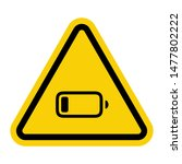 warning attention sign with... | Shutterstock .eps vector #1477802222