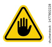 warning attention sign with... | Shutterstock .eps vector #1477802228