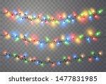 christmas lights. xmas string ... | Shutterstock .eps vector #1477831985