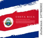 flag of costa rica. vector... | Shutterstock .eps vector #1477882832
