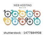 web hosting infographic design...