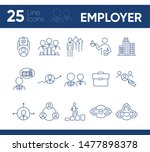 employer line icon set. team ... | Shutterstock .eps vector #1477898378