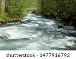 River In French Alps Rushing...