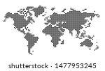 simply world map pixel ... | Shutterstock . vector #1477953245