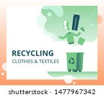 textile waste recycling concept ...
