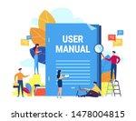 user manual concept. small... | Shutterstock .eps vector #1478004815